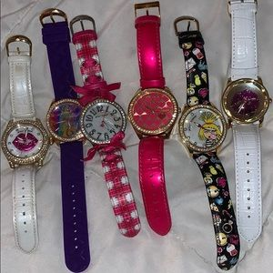 Accessories - Betsey Johnson Watches & one Guess